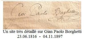Signature de Jean-Paul Borghetti