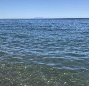 Vue sur les îles Toscanes - Plage de Figaretto