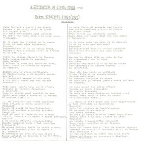 Poème de Petru Borghetti avec traduction Corse-Français