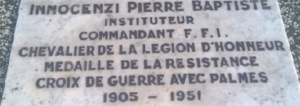 Pierre-Baptiste Innocenzi Plaque