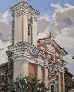 Peinture de l'église Sainte-Lucie de Talasani réalisée par Stephan Ois