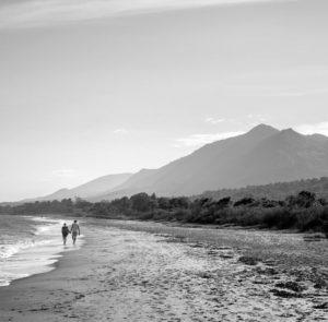 La plage de Talasani en noir & blanc