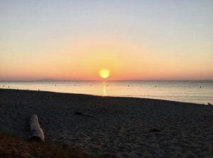 Coucher de soleil à Rico-Plage