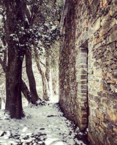 San Petru sous la neige
