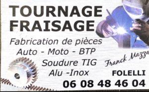 Tournage Fraisage Talasani