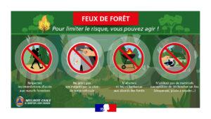 Affiche prévention feux de forêt Talasani
