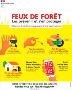 Affiche sensibilisation feux de forêt Talasani