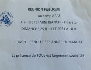 Tract Réunion Publique APAS Talasani 25/07/2021