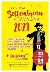 Affiche Settembrinu 2021 Tavagna-Club Talasani