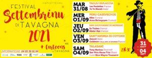 Bannière Settembrinu 2021 Tavagna-Club Talasani