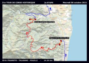 Tracé détaillé étape 2 TDCH 2021 Figaretto-Talasani