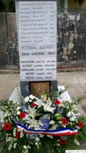 Commémoration de l'appel du 18 Juin de Charles de Gaulle - Monument aux morts Talasani