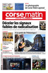 À la Une Corse-Matin du Jeudi 07 octobre Talasani format numérique